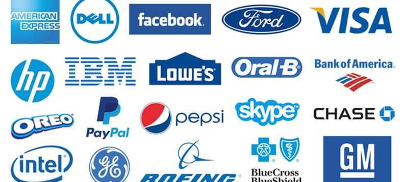 Famous-Blue-Logos