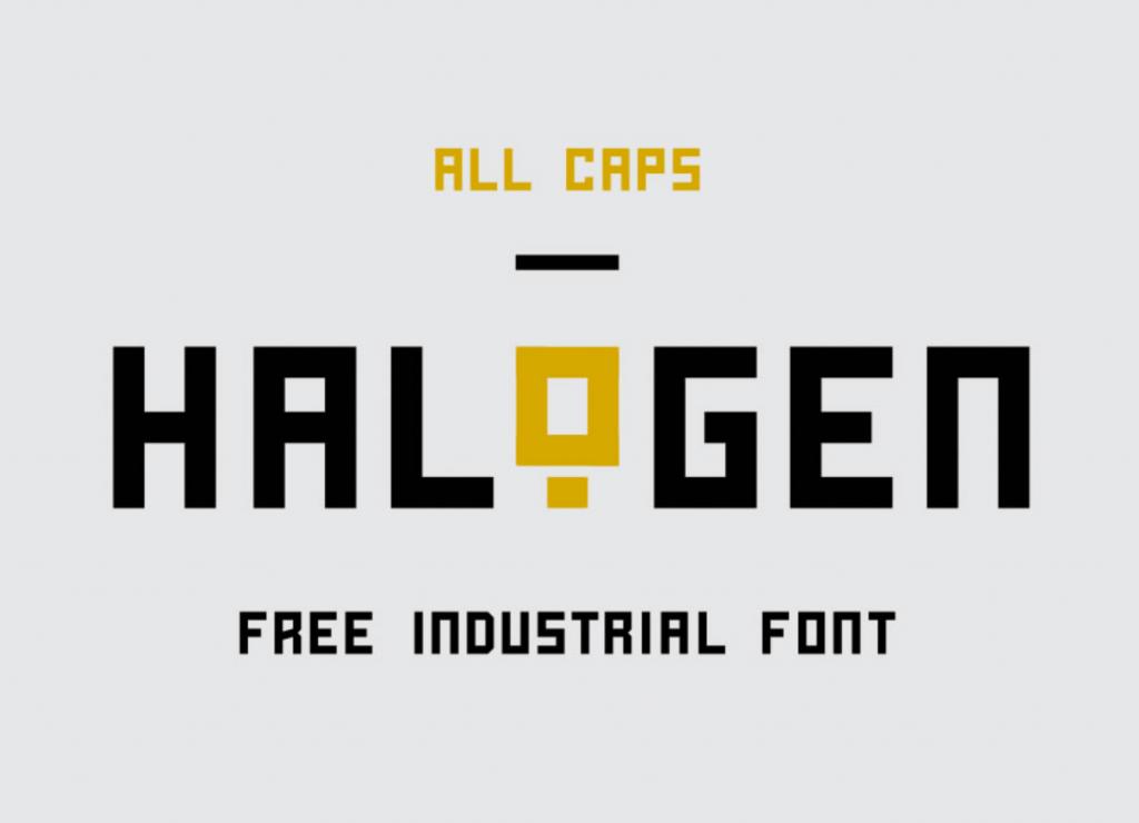 Halogen-Font