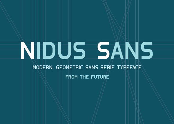 Nidus_sans_font